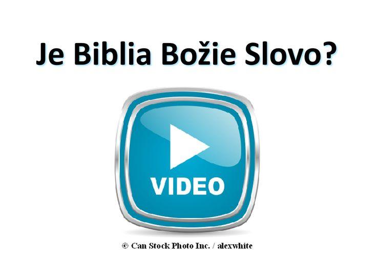 Je Biblia Božie Slovo? Prosím Sledujte toto video sa dozviete: https://www.jw.org/sk/publikacie/knihy/dobra-sprava-od-boha/dobra-sprava-z-biblie-je-od-boha/video-biblia-bozie-slovo/ (Is the Bible God's Word? Please watch this video to find out.)