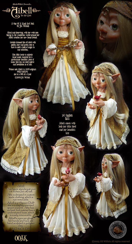 Aibell the Elf Child, ooak by Jill Willich