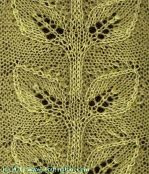 Double Leaf Knitting Pattern : 17 Best images about Knit stitches on Pinterest Lace knitting patterns, Lac...