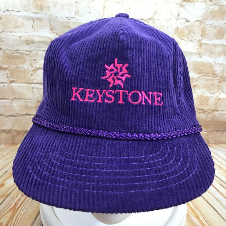 ski brand baseball caps keystone purple pink corduroy cap hat resort doo sports hats