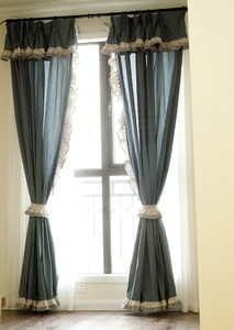 $9.84 3 m home Mediterranean style curtains custom / American curtains / country style curtains custom