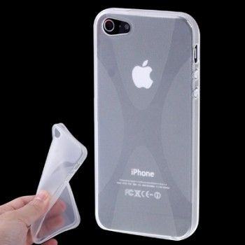 iPhone 5/5S Cases : X-Shaped TPU Case for iPhone 5 & 5s - Transparent