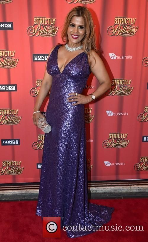 Premiere of Baz Luhrmann's 'Strictly Ballroom The Musical' - Arrivals: PETTIFLEUR BERENGER, Her Majesty's Theatre, wearing Leiela's Sequinned Veronique Gown