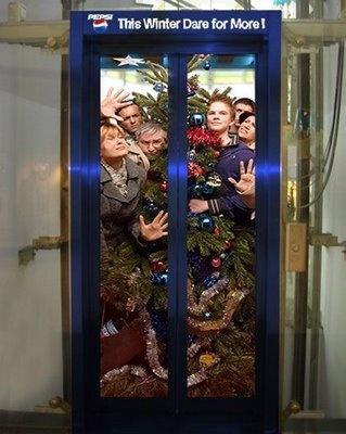 Pepsi elevator ad