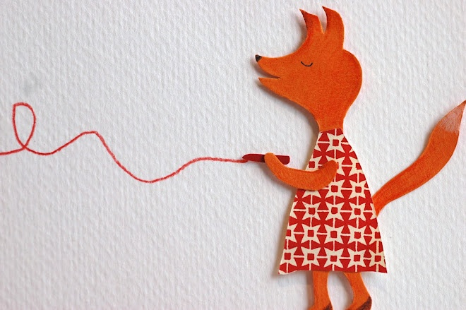 I love foxes, so I made this card :-)