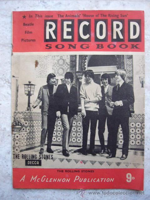 REVISTA RECORD SONG BOOK.  PELICULA DE THE BEATLES - THE ROLLING STONES.  AÑOS 60.  EN INGLÉS. 16 PP