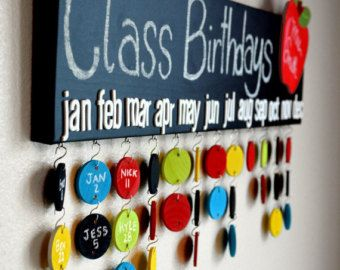 Profesor regalo pizarra clase cumpleaños por DesignsByLissaLou