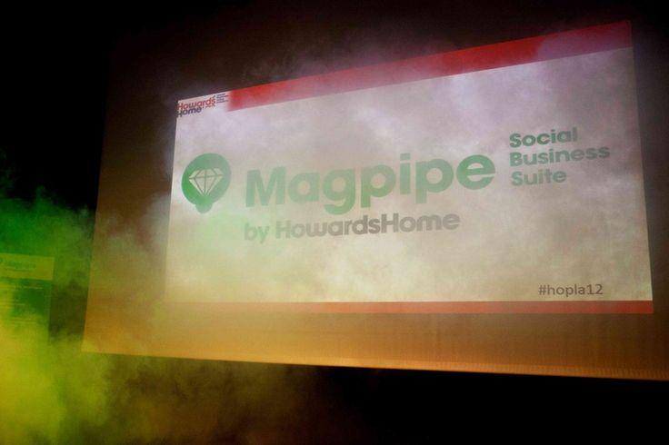 De lancering van Magpipe tijdens HowardsPlaza 2012 met presentaties van @stevenVBe en @Jochem Koole over #socbiz