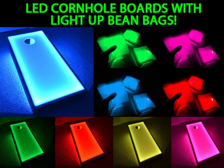 Led Bean Bags With Light Up Cornhole Boards Great Glow