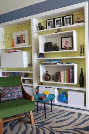 View This Great Contemporary Living Room With Built In Bookshelf Storage Cabinets By Jennifer Gustafson Discover Browse Thousands Of Other