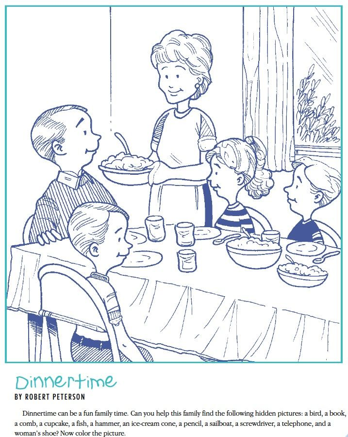 LDS Games - Find and Color - Dinner Time