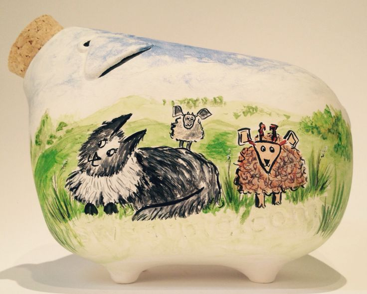 Hand painted piggy banks. #SPCL starts 13th April