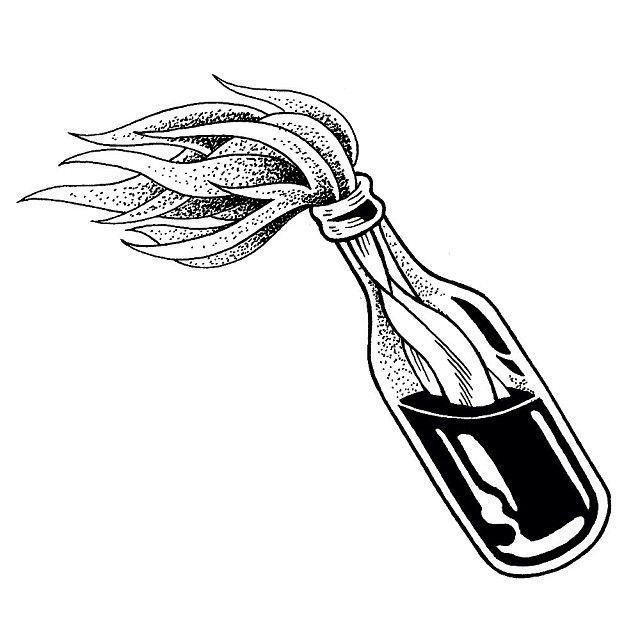 Resultado de imagen para bomba molotov stencil