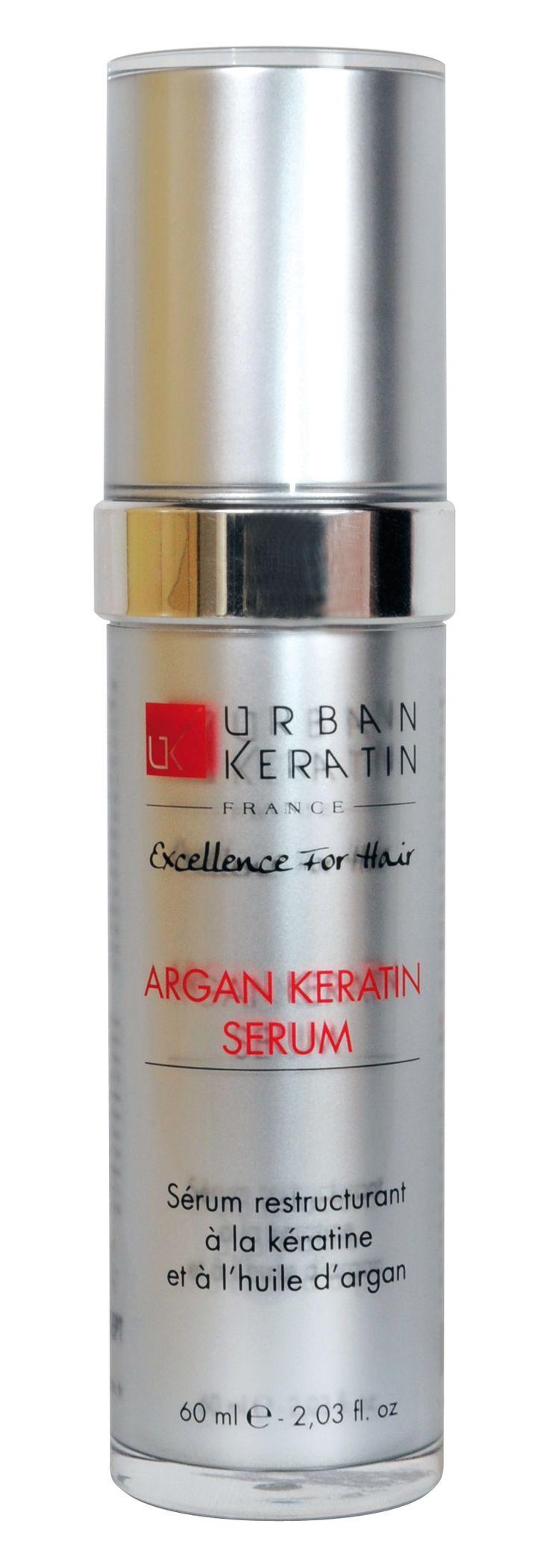 Sérum URBAN KERATIN restructurant à la Kératine et à l'huile d'argan. Hydrate traite et prévient le vieillissement du cheveu. Amplifie la brillance, la souplesse et le lissage de la chevelure. son efficacité se renforce sous l'effet de la chaleur des séchoirs et des lisseurs. Élimine l'effet crépu et les fourches. Pour tous types de cheveux www.urbankeratin.fr