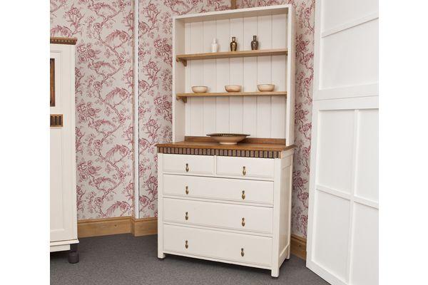 Five Drawer Oak Dresser | Vinterior London  #shabbychic #vintage #design #interiors #storage