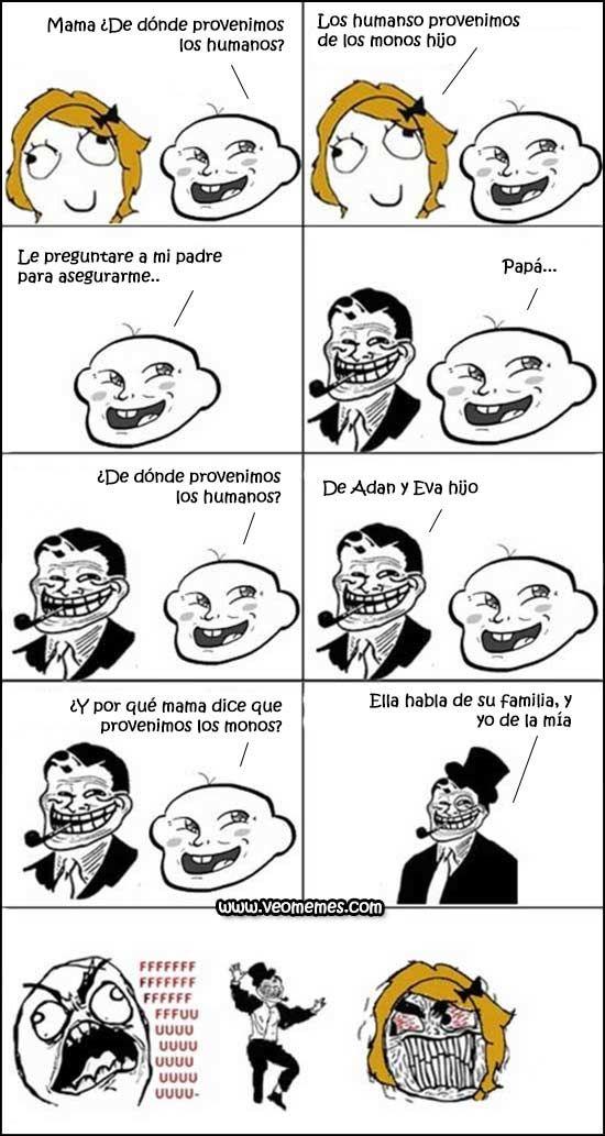 Memes en español: ¿De dónde provienen los humanos? → #memesdivertidos…