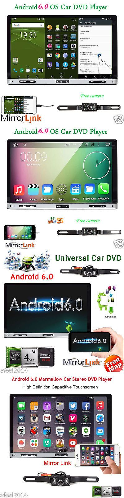 Vehicle Electronics And GPS: Android 6.0 7 Double 2Din Car Radio Stereo Dvd Player Gps Nav Bluetooth 3G Wifi BUY IT NOW ONLY: $188.96