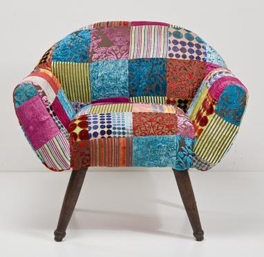 Butaca 7 patchwork - Tienda On Line de Muebles Vintage, Retro, mobiliario para restaurantes