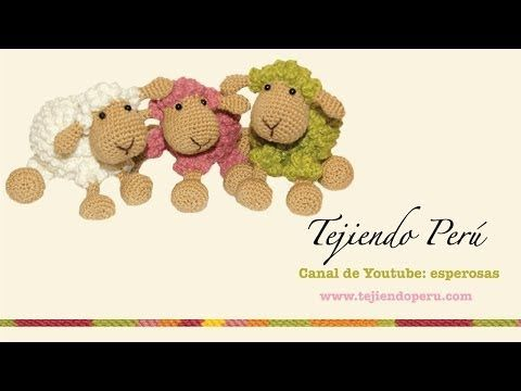 Ovejas tejidas a crochet (amigurumi) Parte 1: tejiendo el cuerpo - YouTube