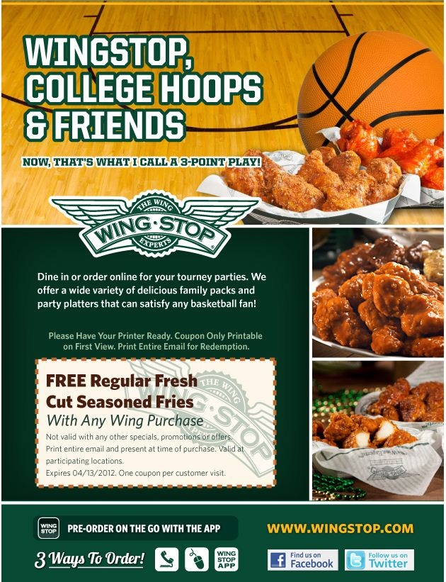 This is a picture of Epic Wingstop Coupons Printable