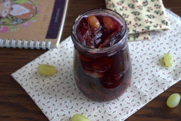 Варенье из винограда и сливы на зиму