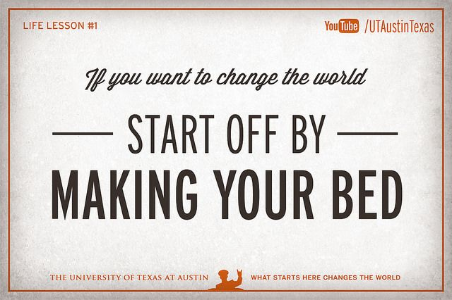 10 Life Lessons from Admiral McRaven by UT Austin, via Flickr