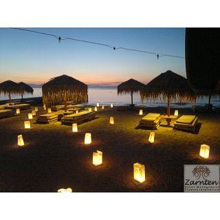 Γάμος με χάρτινα φαναράκια στο ''Kaiki beach Spetses ''