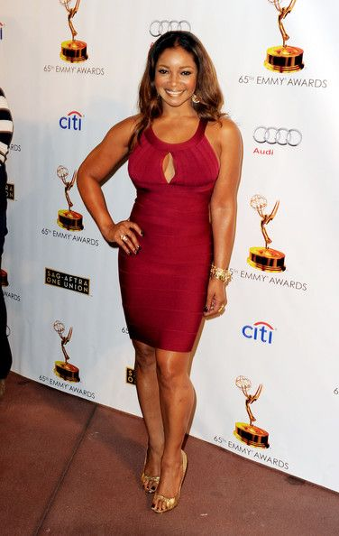 Tamala Jones arrives at The Academy of Television Arts & Sciences and SAG-AFTRA celebration of the 65th Primetime Emmy Award nominees at the Television Academy on September 17, 2013 in No. Hollywood, California.