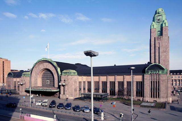 Main railway station, Helsinki - 1909 Another impressive structure (which I did enter) is the railway station. It's Art Nouveau, but more severe and stripped down than how the style was practiced across the Baltic in Riga, Latvia. Art Contrarian: December 2011