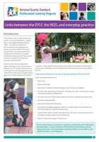 Links between EYLF, NQS and practice