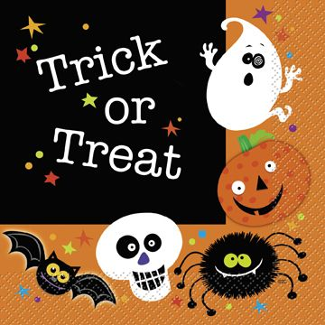 Spooky Smiles Halloween Luncheon Napkins