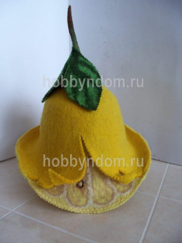 валяная шапка для бани (60)