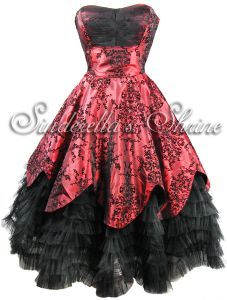 "Hell Bunny ""Majesty"" Limited Edition Steampunk Evening Dress"