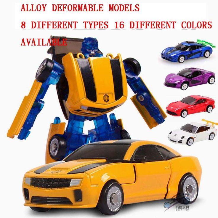 9 cm Baby toys 1:32 Lega di deformazione robot modello fonde sotto pressione veicoli giocattolo ragazzo Trasformazione giocattoli auto da corsa Regali Di Compleanno