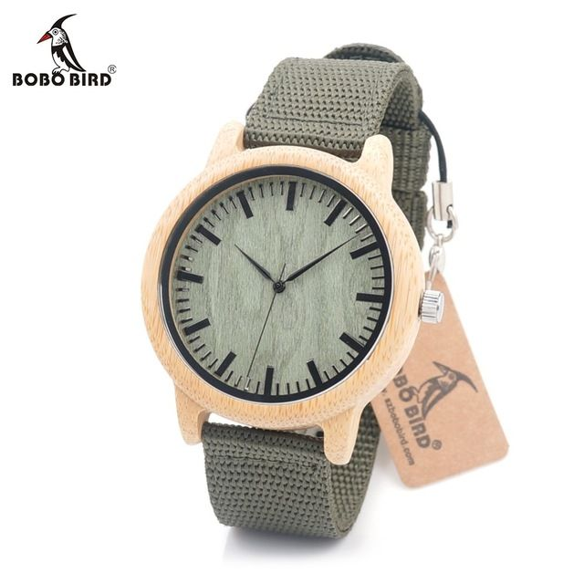 Buy now BOBO BIRD D11D12 Wood Bamboo Watch for Mens Womens Brand Designer Watches Soft Nylon Band Carton Gift Box Relogio masculino just only $14.57 with free shipping worldwide  #menwatches Plese click on picture to see our special price for you