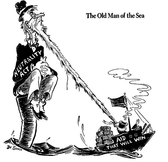 The United States hoped to stay out. Drawing on its experience from World War I, Congress passed a series of Neutrality Acts between 1935 and 1939, which were intended to prevent Americans becoming entangled with belligerents. Americans in general, however, while not wanting to fight the war, were definitely not neutral in their sympathies and the acts were manipulated, to the frustration of genuine isolationists, to lend more support to the Allies