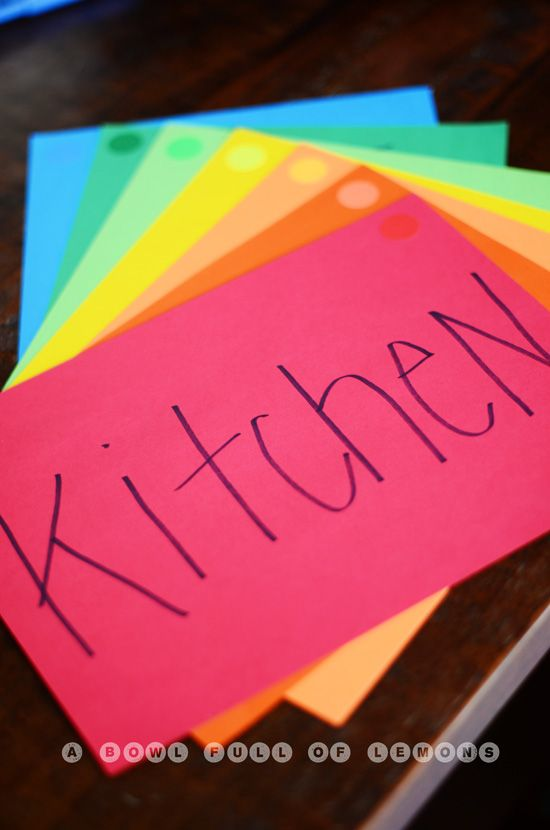 How to organize your move Use colored index cards to made sure boxes are left in right rooms.| A Bowl Full of Lemons