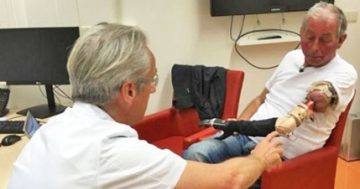 This prosthetic arm is powered by Bluetooth and your mind  #Inthisarticle:gear #medical #medicine #Netherlands #prosthetic #robot #robotarm #robots #Science #tomorrow #news