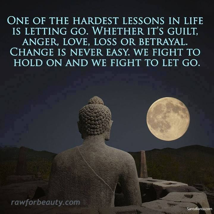 Letting it go... so hard, but so easy at the same time.