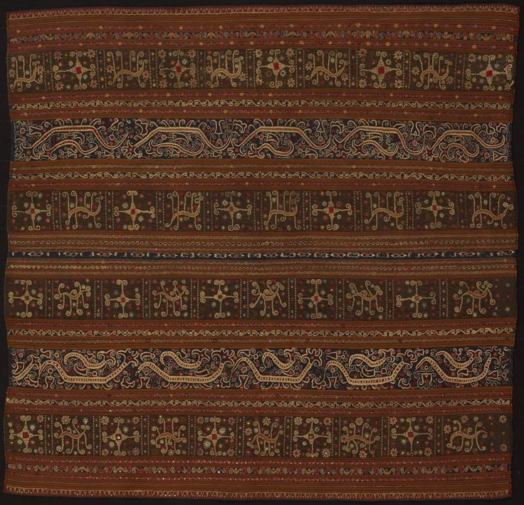 Abung people Indonesia, South Sumatra, northern Lampung area, Monggala Ceremonial Skirt (tapis), Early 19th century