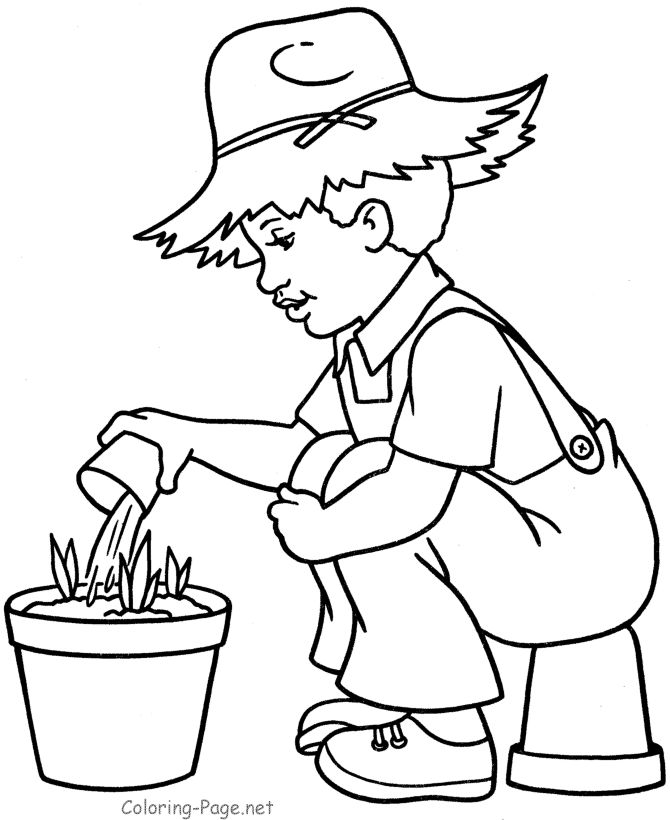 boy summer coloring pages - photo#21