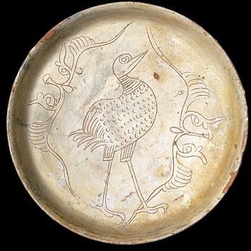 "1125-1175 (made) Engraved slipware, or ""sgraffito/sgraffiato"""