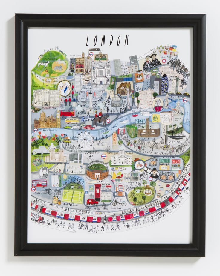 Gorgeous hand-illustrated print featuring London in all it's glory.