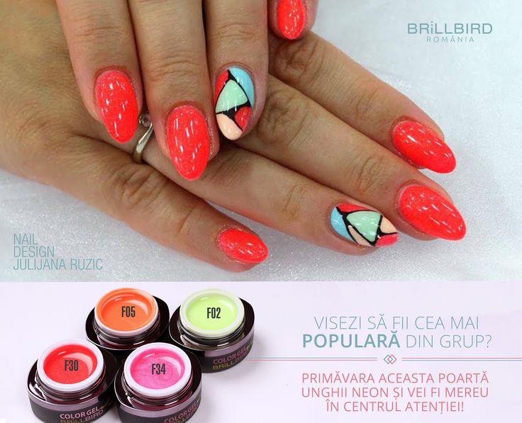 O manichiura pentru cei care adora unghiile neon.