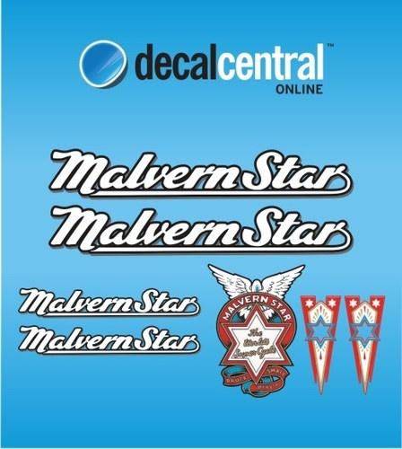 Malvern Star Vintage Decals Sticker Bike Bicycle Road Vintage | eBay