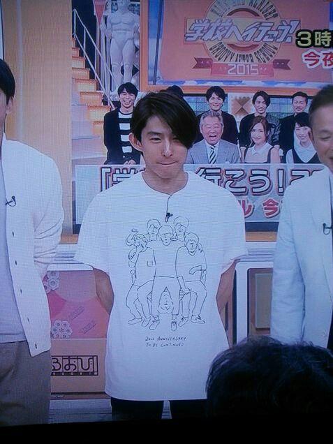 三宅健 自作の20周年サプライズTシャツ 特徴掴んでる。