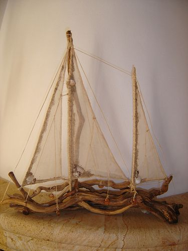 driftwood ship by dinapanou, via Flickr