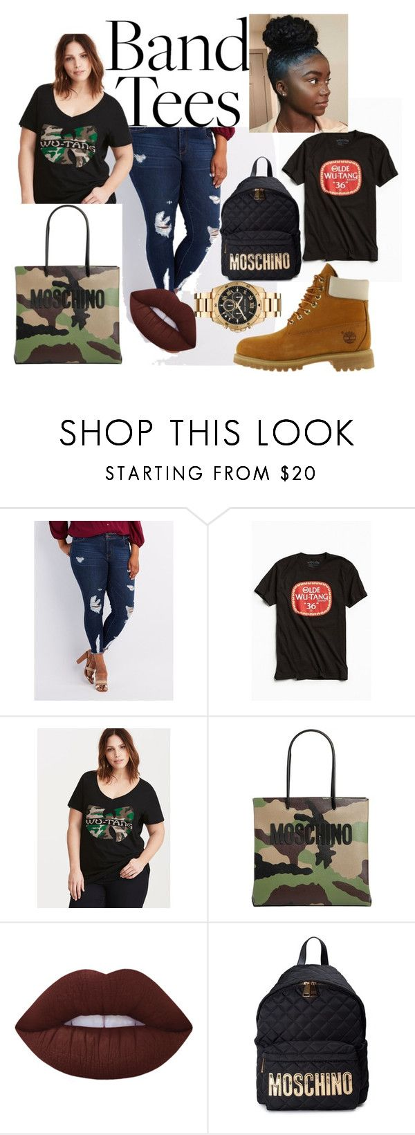 """""""WUTANG!!!!!!!"""" by plus-size-royalty on Polyvore featuring Charlotte Russe, Urban Outfitters, Torrid, Moschino, Lime Crime, Timberland and Michael Kors"""
