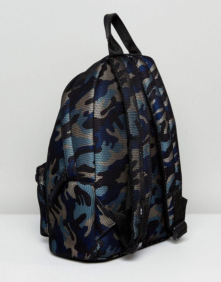 Artsac Workshop Net Overlay Camo Backpack - Blue