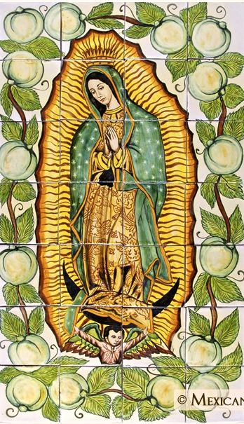 Mexican tiles depicting Our Lady